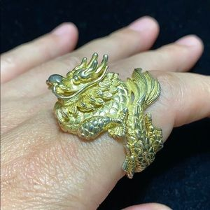 18kgp Vintage dragon ring
